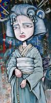 Blue Geisha by humangarbage