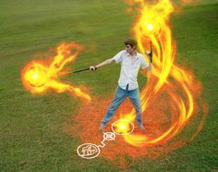 Magic Rune - Fire Tonfa by DigitalFantasyFxClub