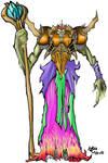 Leech King coloured by DarkSky666