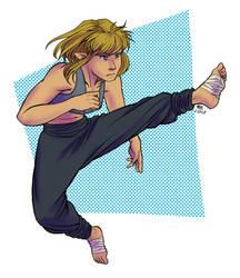 High-kick Fauve by Zil-Zeki