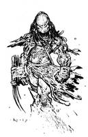 The Predator- inks by TimKelly