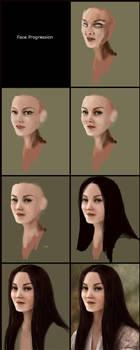 face progression by hakubaikou