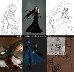 random initial sketches by hakubaikou