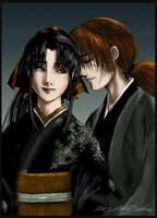 Kenshin and Kaoru by hakubaikou