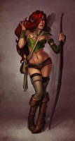 Elf Pinup by JessiBeans