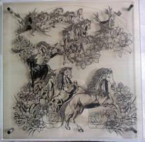Nymphai papercutting by Thessatoria