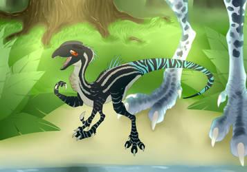 Diamond the Dilophosaurus - Ask Introduction by Xstillwatersrundeep