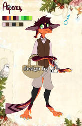 CLOSED Character for SALE-Airelian The Volcano Kid by Xstillwatersrundeep