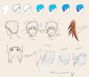 How to draw Anime Hair by chi-u