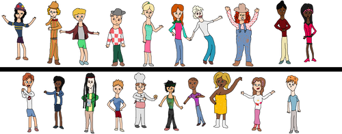 Total Drama Cruise: Cast Pic by agreenparrot