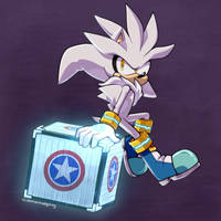 Silver the hedgehog by demonhedgehog-art