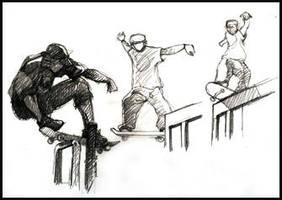 skateboarders by lartediris