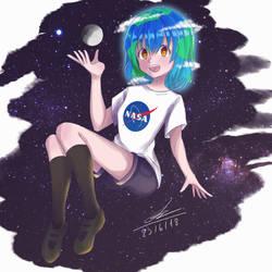 Earth-Chan by JayTwist24HD