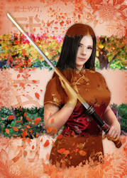 Samurai and Katana by NeaN