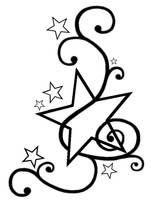 Star Tattoo Template by PhoenixDestruction