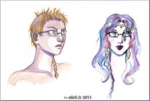 .com. Shamael x Selene portrt by RevanRayWan