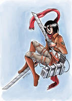 Shingeki No Kyojin Mikasa Ackerman by RevanRayWan