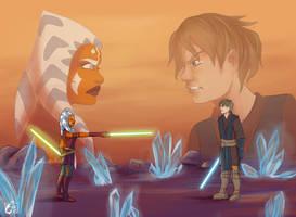 Anakin x Ahsoka - Early dual of the fates by RevanRayWan