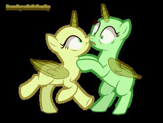 Mlp pony Base 25 | 2 ponies by ashakalovsky