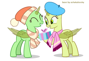 Mlp Base 34 | Couple | Merry Christmas! by ashakalovsky