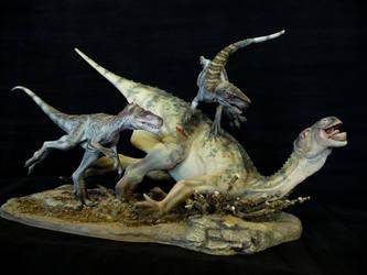 Iguanodon and Eotyrannus.1 by Baryonyx-walkeri