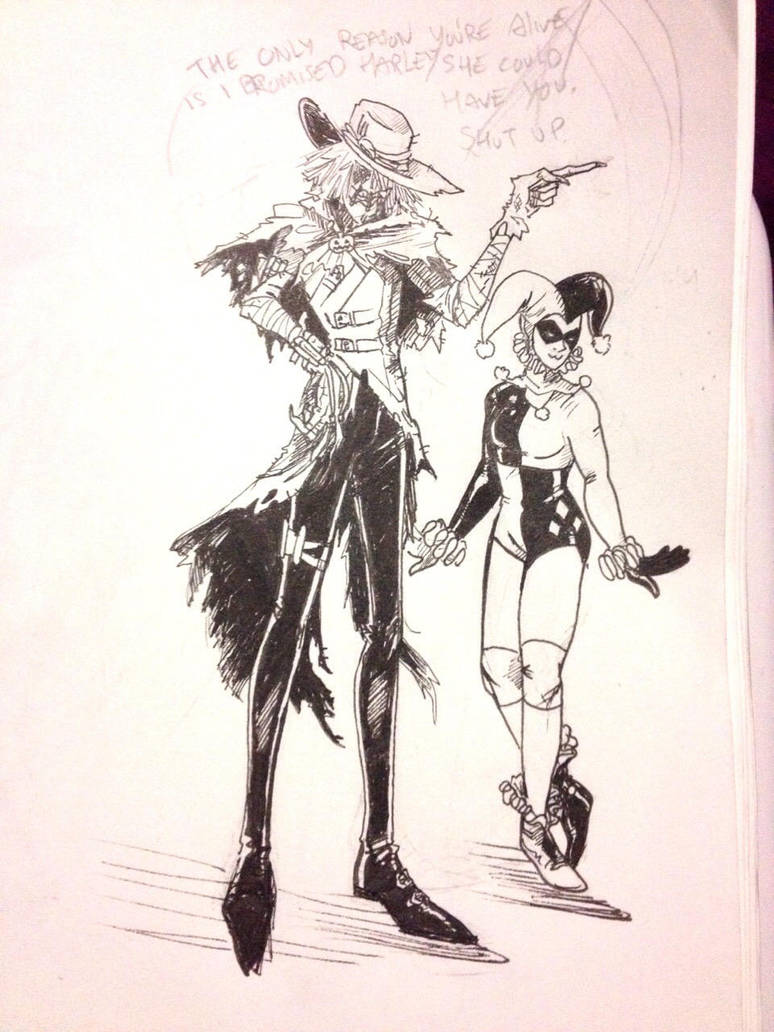 Scarecrow and Harley Quinn Redesign by CarpalTunnelLuv