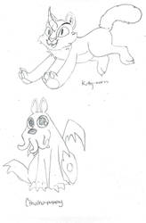 Kittycorn and cthulhupuppy by Jaestring