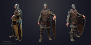 Medieval Soldier Presentation Shot by sumutf