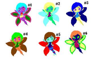 Fairy Adoptables by AyumiCoza