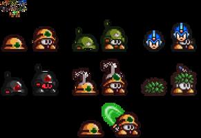 Mega Man X9/Rockman X9: Metools and variants by Mryayayify