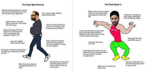 The Virgin Male Feminist vs. the Chad Roosh V. by Phracker