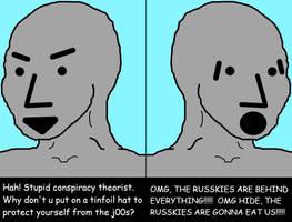 NPC Conspiracy Theorists by Phracker