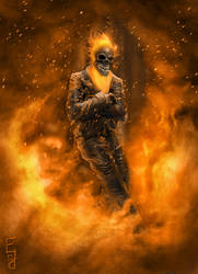 Ghost Rider by EdwardDelandreArt