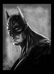 the dark knight by EdwardDelandreArt