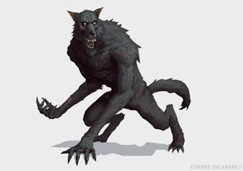 Werewolf by EdwardDelandreArt