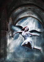 Angel in the sky by irinama
