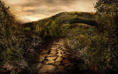 Fantasy  mountain BG Stock by irinama