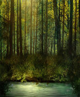 BG Fantasy Forest Stock by irinama