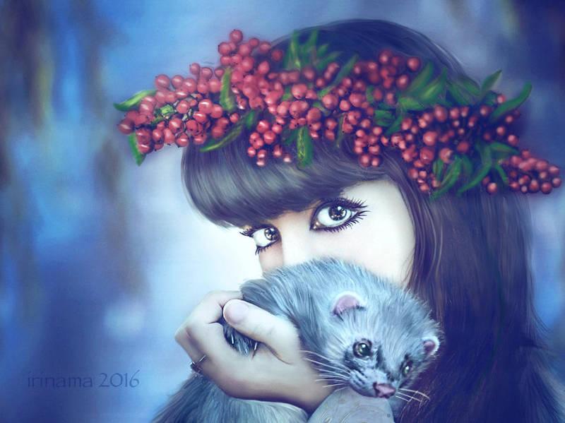 With ferret by irinama