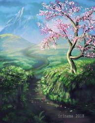 Cherry blosson by irinama