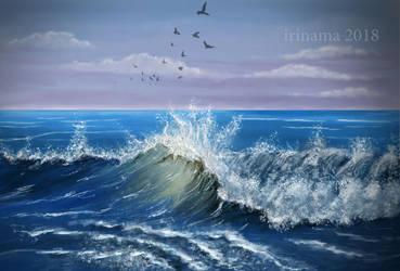 Waves by irinama