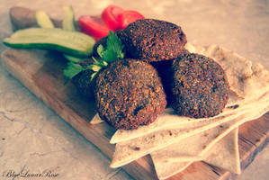 Homemade Falafel by BlueLunarRose