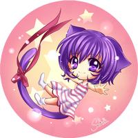 Chibi Miya Button by MiyaSekaia