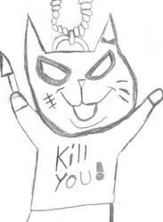 BadAss Kitty KeyChain by bombninjanaruto