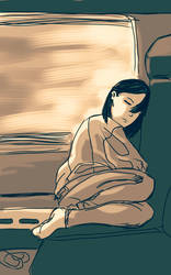 People on the train #3 by Mercvtio