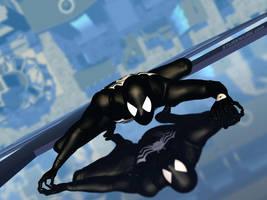 Spider on Glass by sturkwurk
