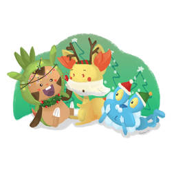 Pokemon on Christmas day! -- SW 2016 by supperfrogg
