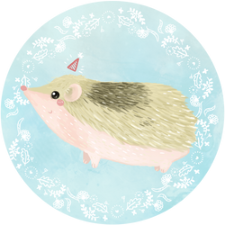 Hedgehog - Santa's Workshop 2016 by supperfrogg