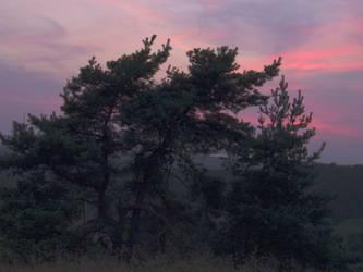 Sunset at Laag-Soeren by cdegroot