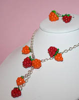 cloudberry and raspberry by mrselaisa
